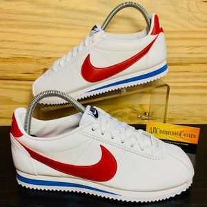 New Nike Classic Cortez Leather USA Red White Blue